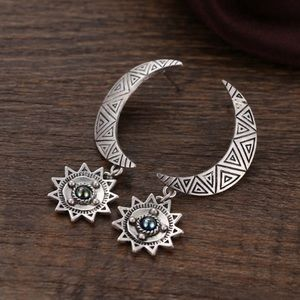 Moon post back earrings